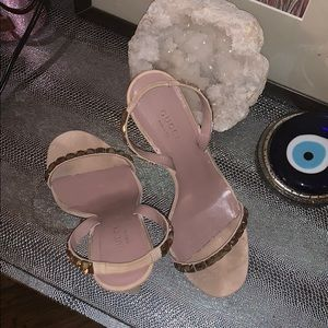 Gucci Shoes - Gucci nude heels